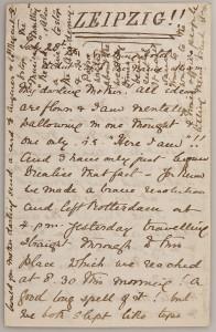 Einer der Leipziger Briefe Ethel Smyths. Mit freundlicher Erlaubnis © HfMT Leipzig.