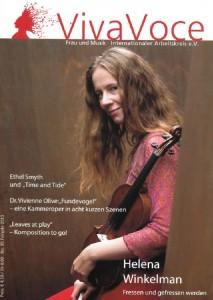 VivaVoce-Cover Nr. 95, mit mfm-Auftragskomponistin Helena Winkelman (2012). Bild: © Archiv Frau und Musik.